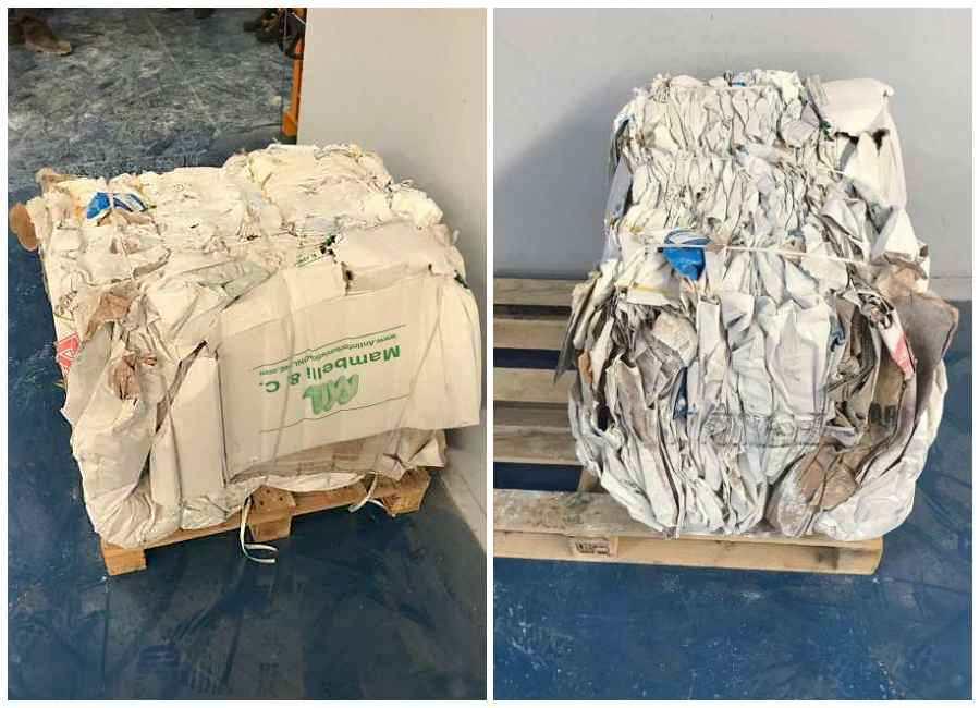 Balla di sacchi di carta prodotta da X10