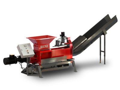 Pressa strizzatrice dewatering per smaltire cartoni Tetra Pak